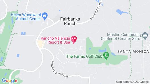 Rancho Valencia Resort and Spa Map