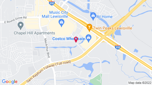 Hampton Inn & Suites Dallas/Lewisville-Vista Ridge Mall, TX Map