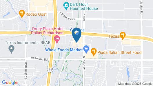 Aloft Richardson Map