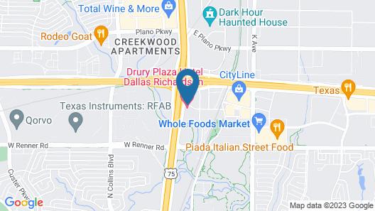 Drury Plaza Hotel Dallas Richardson Map