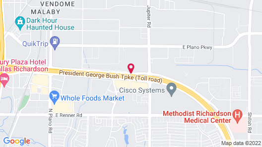 Courtyard by Marriott Dallas Plano/Richardson Map