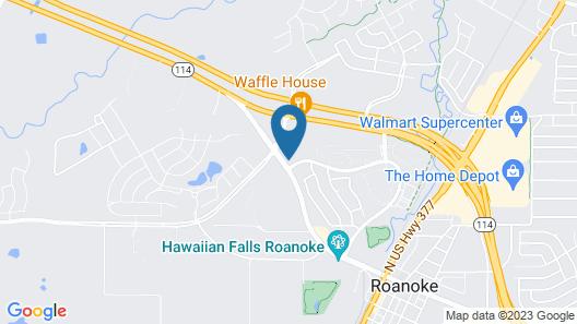 Comfort Suites Roanoke - Fort Worth North Map