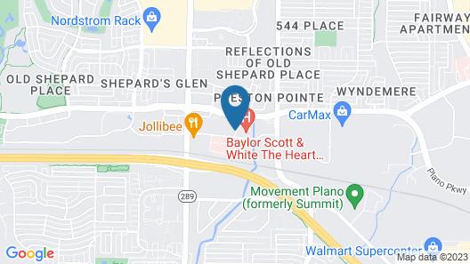 Studio 6 Plano, TX - Dallas - Plano Medical Center Map