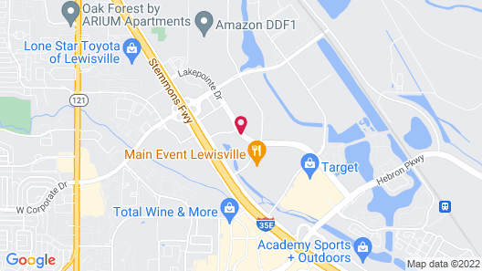 Suburban Extended Stay Hotel Lewisville Map