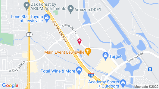 Extended Stay America Suites Dallas Lewisville Map