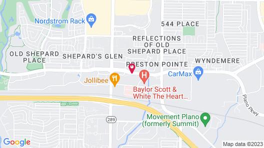Fairfield Inn & Suites Dallas Plano Map