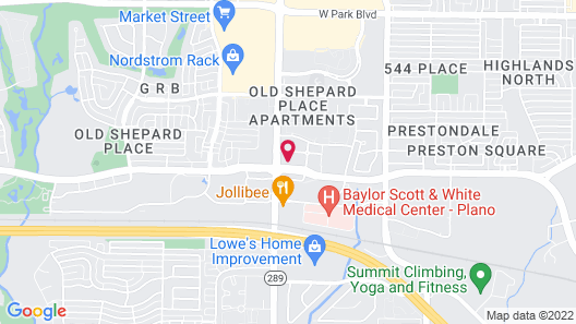 Courtyard by Marriott Dallas Plano Parkway at Preston Road Map