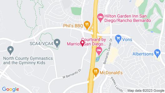 Radisson Hotel San Diego-Rancho Bernardo Map