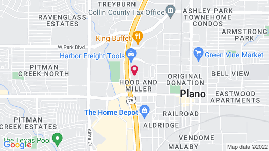Studio 6 Plano, TX Map