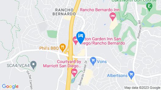 Hilton Garden Inn San Diego - Rancho Bernardo Map