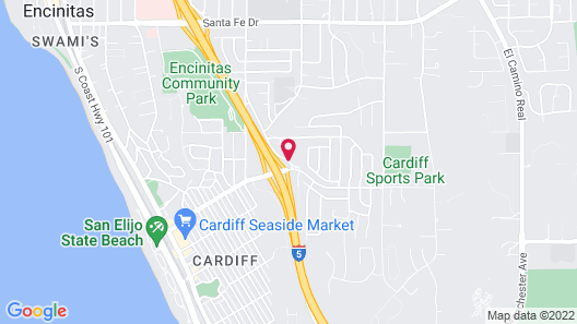 Hampton by Hilton Encinitas-Cardiff Beach Area Map