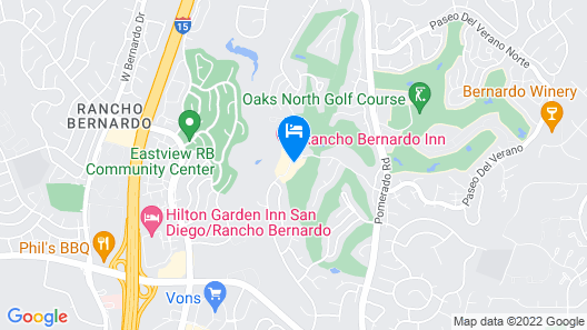 Rancho Bernardo Inn San Diego - A Golf and Spa Resort Map