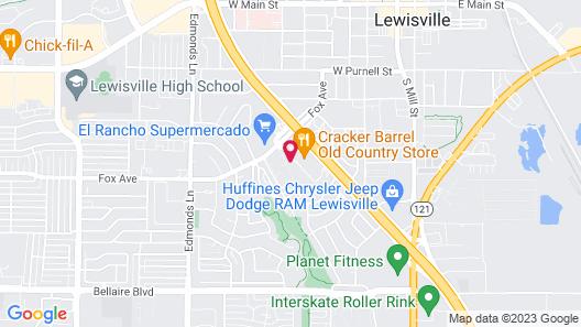Econo Lodge Inn & Suites Lewisville I-35 Map