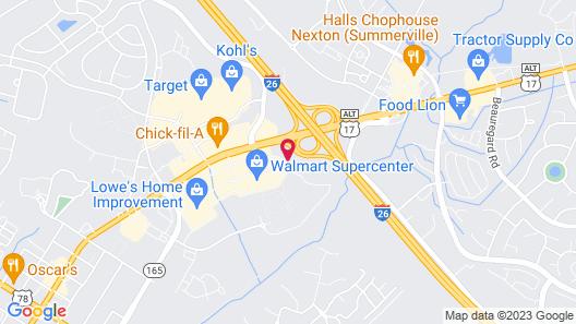Hampton Inn Summerville SC Map