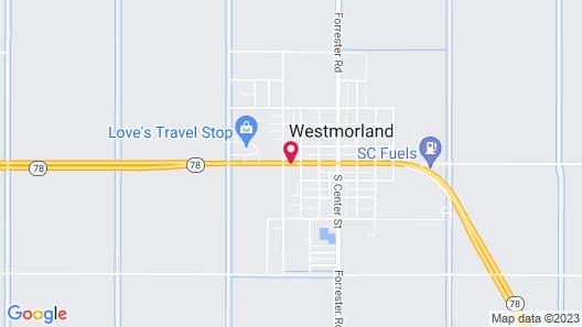 Americas Best Value Inn Westmorland Map