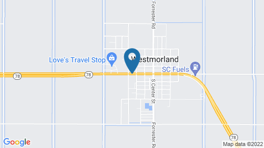 Americas Best Value Inn Westmorland Map