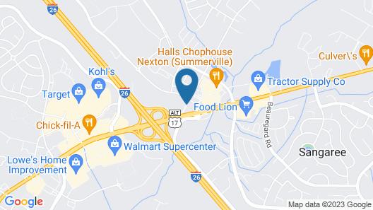 Courtyard by Marriott Charleston Summerville Map