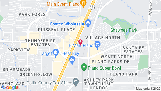 Hampton Inn and Suites Dallas/Plano Central Map