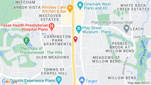Extended Stay America Suites Dallas Plano Map