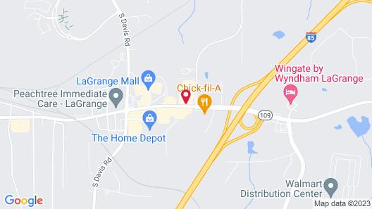 Motel 6 Lagrange, GA Map