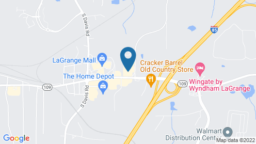 Studio 6 Lagrange, GA Map