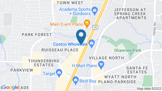 Fairfield Inn & Suites Dallas Plano North Map