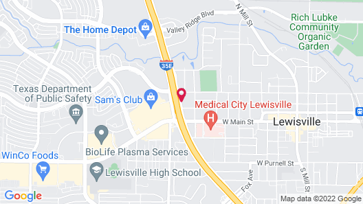 Motel 6 Lewisville, TX - Medical City Map