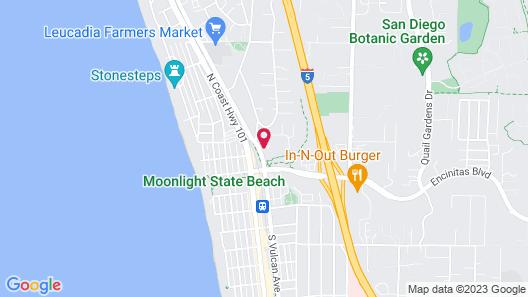 Inn at Moonlight Beach Map