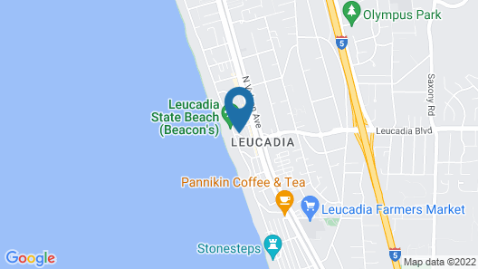 Ocean Front, Huge Yard, Spacious, A/c, Surfboards/beach Gear Map