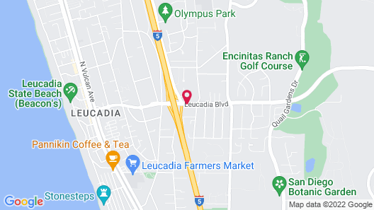 Quality Inn Encinitas Near Legoland Map