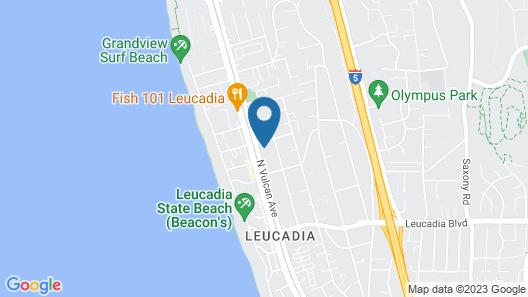 Beautiful Beach Cottage Fully Remodeled in Coastal Encinitas - Sleeps 4 Map