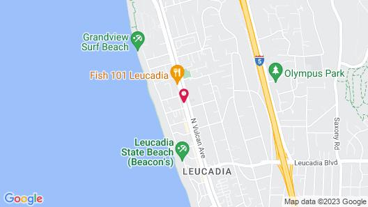 Leucadia Beach Inn Map