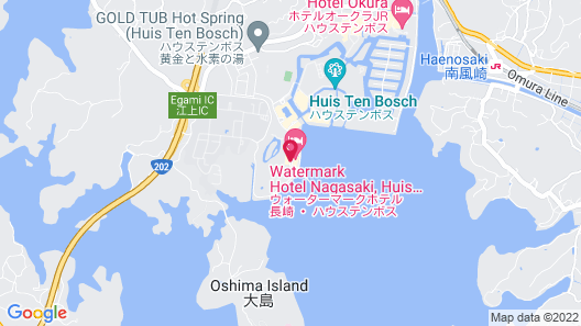 Watermark Hotel Nagasaki, Huis Ten Bosch Map