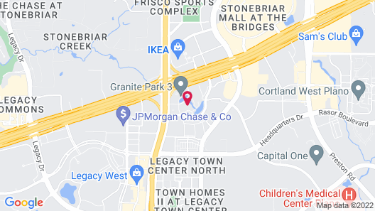 Hilton Dallas/Plano Granite Park Map