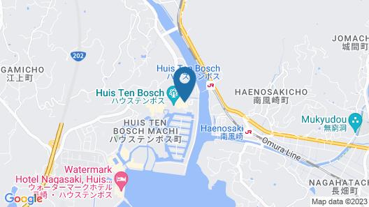Hotel Okura JR Huis Ten Bosch Map