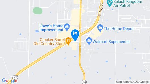 Comfort Suites Greenville Map
