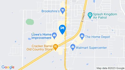 Hampton Inn & Suites Greenville Map