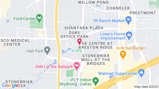 Hampton Inn & Suites Legacy Park-Frisco Map