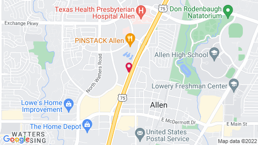Homewood Suites Dallas Allen Map