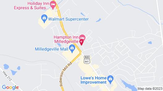 Hampton Inn Milledgeville Map