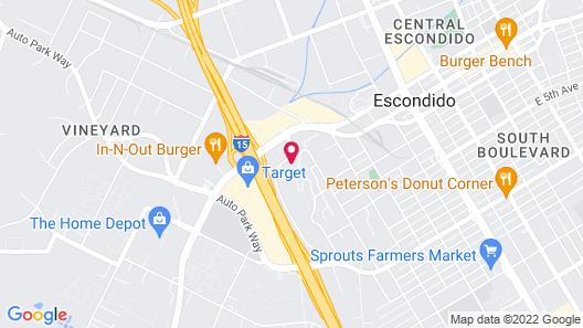 SpringHill Suites by Marriott Escondido Downtown Map