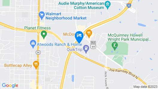 Motel 6 Greenville, TX Map