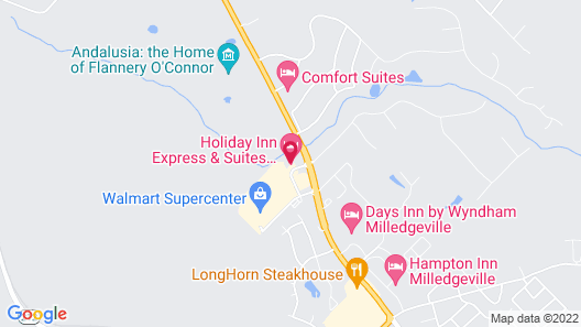 Holiday Inn Express & Suites Milledgeville, an IHG Hotel Map
