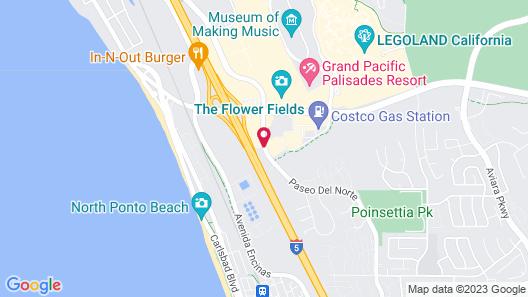 Motel 6 Carlsbad, CA - East Map