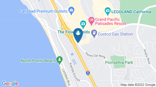 Motel 6 Carlsbad, CA - East Map