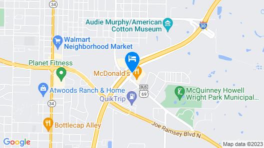 Quality Inn Greenville I-30 Map