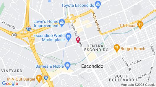 Econo Lodge Inn & Suites Escondido Downtown Map