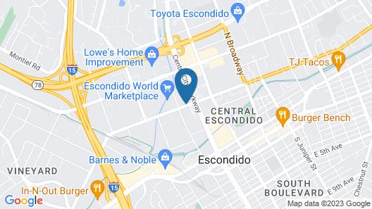 Hotel Hidden Valley Map