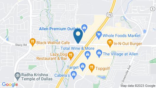 Hampton Inn & Suites-Dallas Allen Map