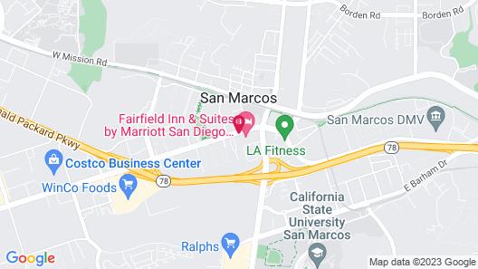 Fairfield Inn & Suites San Diego North/San Marcos Map